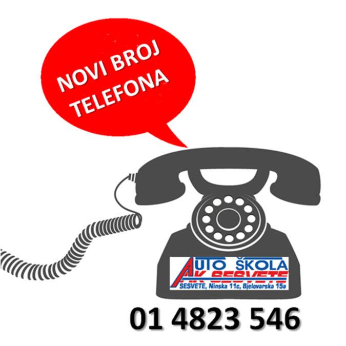 Novi telefonski broj autoškole